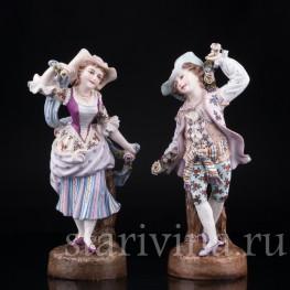 Статуэтка из фарфора Пара с цветами, Германия,, 19 в.