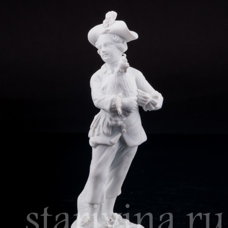 Фигурка из фарфора Мальчик с петухом, Meissen, Германия, 19 в.