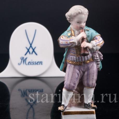 Фигурка из фарфора Мальчик с флейтой, Meissen, Германия, кон. 19 - нач. 20 вв.
