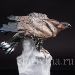 Фарфоровая статуэтка птицы Орел на скале, Karl Ens, Германия, 1920-30 гг.