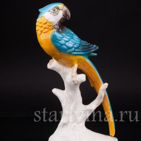 Уцененная статуэтка из фарфора Попугай Ара, Goebel, Германия, вт. пол. 20 в.