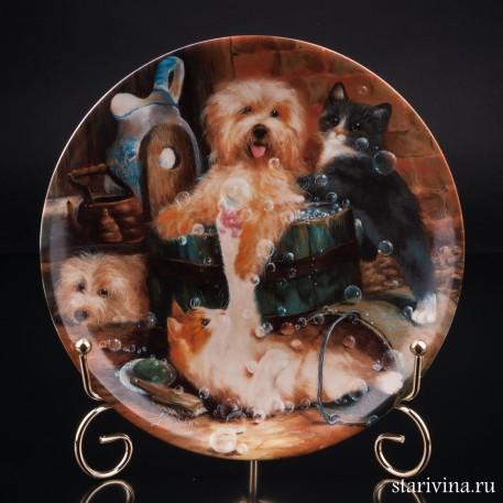 Декоративная тарелка Восхитительное купание, Seltmann Weiden, Германия.